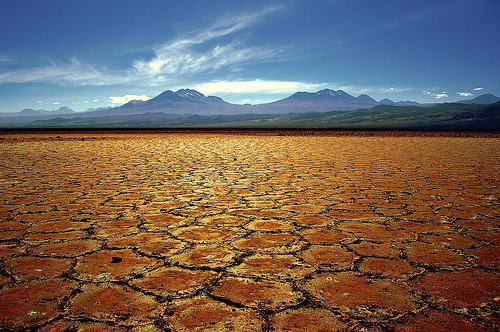 The Salar de Atacama salt flats in Chile. Is most of the easily recoverable lithium here already gone?