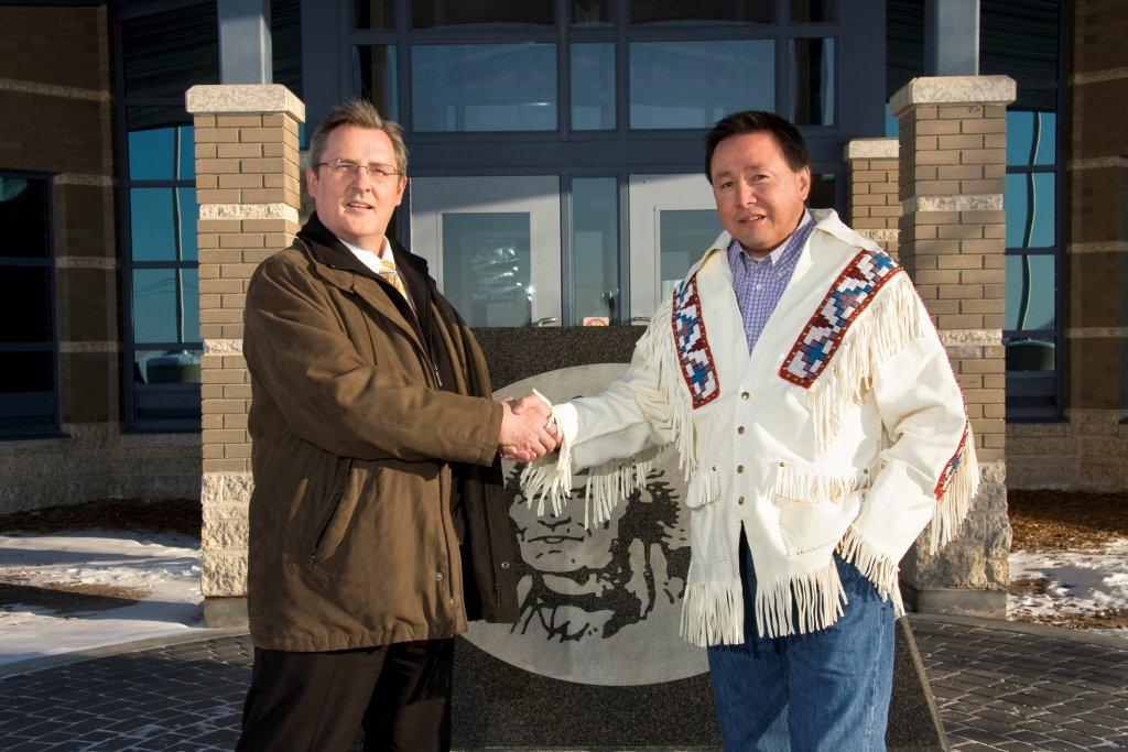 Encanto President & CEO Jim Walchuck and Muskowekwan Chief Reg Bellerose are in joint development of First Nation potash.