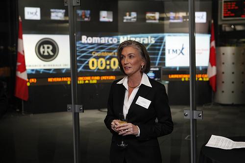 Romarco Minerals President and CEO Diane Garrett.